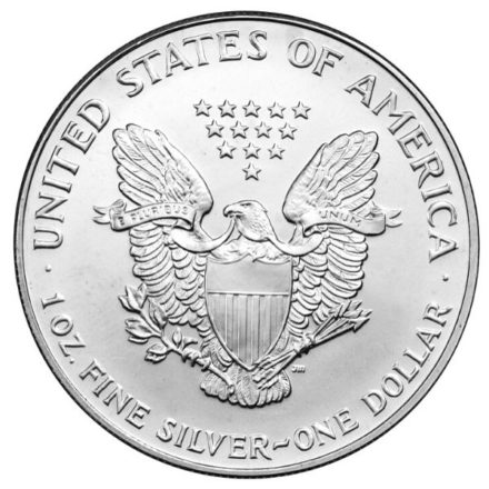 1993 American Silver Eagle Coin Reverse