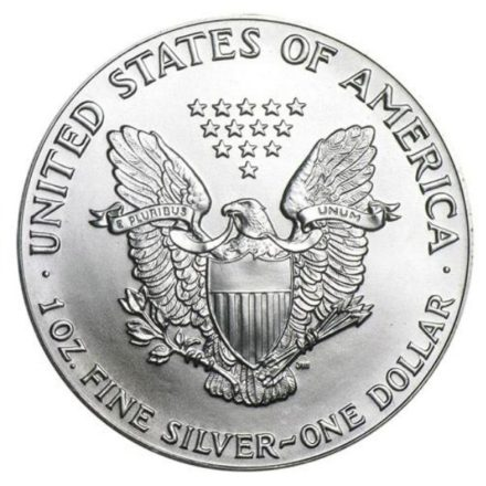 1995 American Silver Eagle Coin Reverse