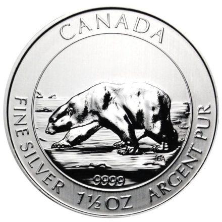 2013 1.5 oz Canadian Silver Polar Bear Coin Obverse