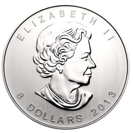 2013 1.5 oz Canadian Silver Polar Bear Coin Reverse