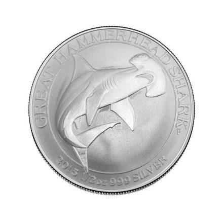 2015 Australian 1/2 oz Silver Hammerhead Shark