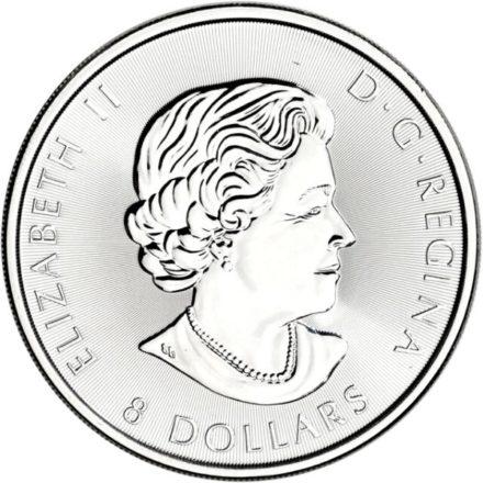 2016 1.5 oz Canadian Silver Snow Falcon Coin Reverse