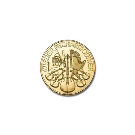 2020 1/10 oz Austrian Gold Philharmonic Obverse