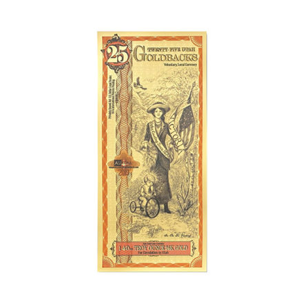 25 Utah Goldback Aurum Gold Note