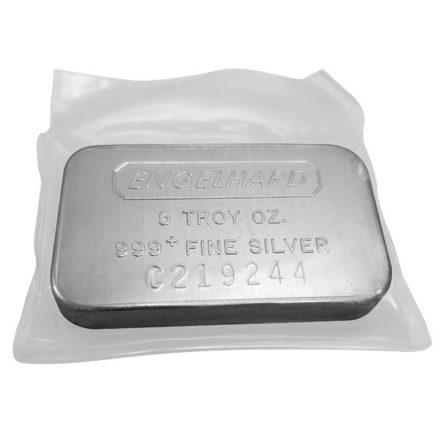 Engelhard 5 oz Silver Bar Any Style
