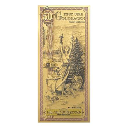 50 Utah Goldback Aurum Gold Note