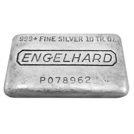 Engelhard 10 oz Silver Bar - Loaf Style