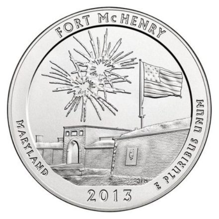 Fort McHenry 5 oz Silver ATB Coin