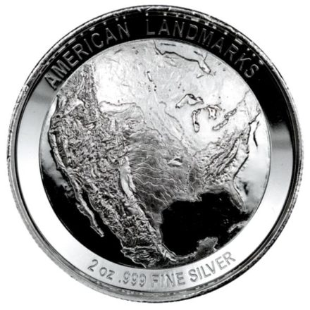 Grand Canyon 2 oz Silver Round Reverse