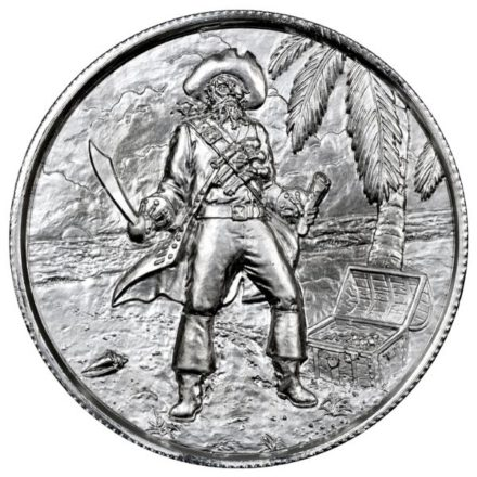 Privateer Captain 2 oz Silver Round Obverse
