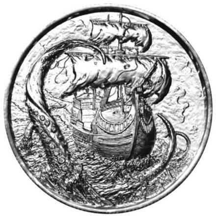 Privateer Kraken 2 oz Silver Round Obverse
