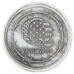 Q WWG1WGA 1 oz Silver Round Antiqued Obverse