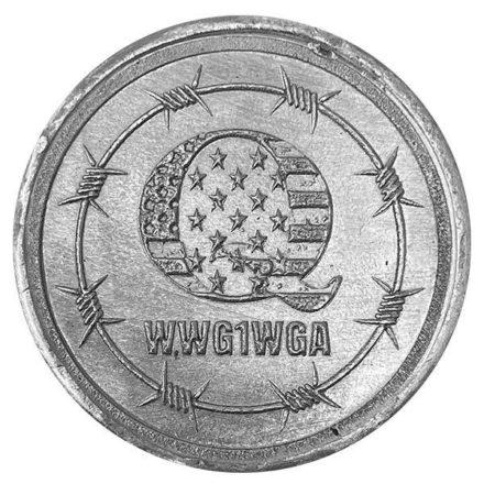 Q WWG1WGA 2 oz Silver Round Obverse