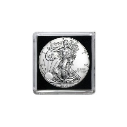 Silver Eagle in Guardhouse Tetra 2x2 Coin Holder