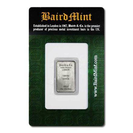 1/10 oz Rhodium Bar - in Assay Card
