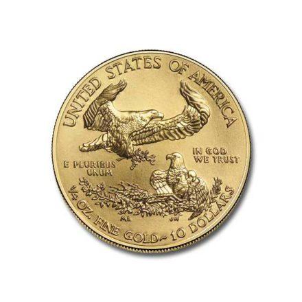 1/4 oz American Gold Eagle Coin Reverse
