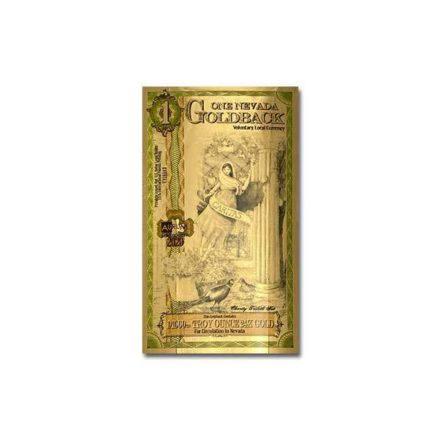 1 Nevada Goldback Gold Aurum Note