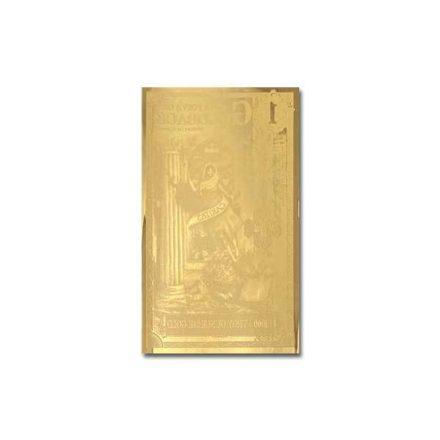 1 Nevada Goldback Gold Aurum Note Reverse