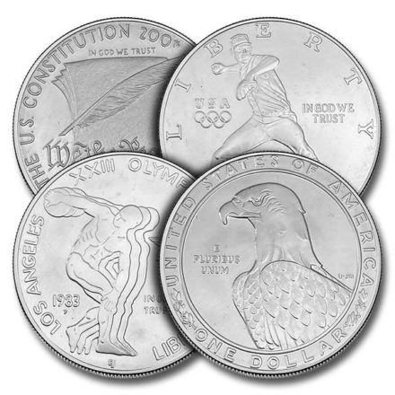 $1 US Mint Commemorative Silver Dollar Coin