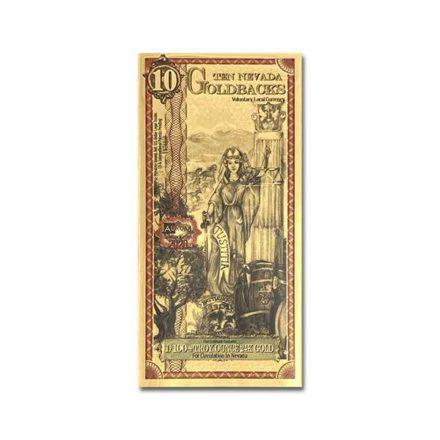 10 Nevada Goldback Gold Aurum Note