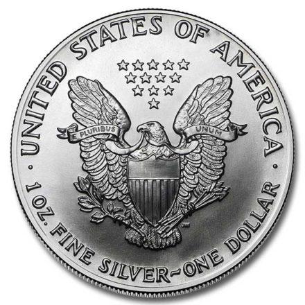1990 American Silver Eagle Coin Reverse
