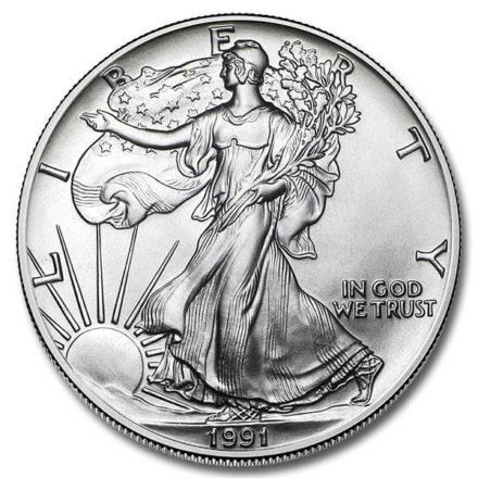 1991 American Silver Eagle Coin