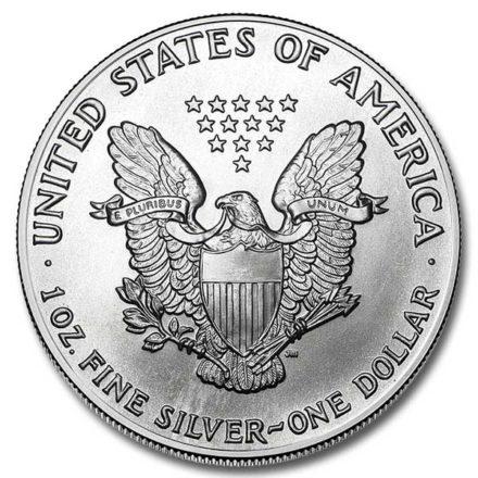 1991 American Silver Eagle Coin Reverse