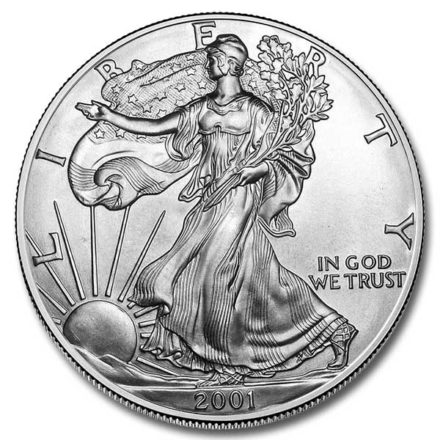 2001 American Silver Eagle Coin