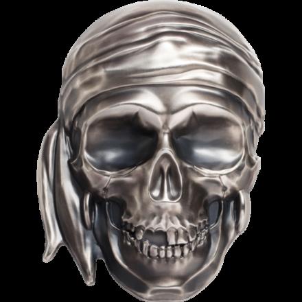 2018 Palau 1/2 Kilo Silver Big Pirate Skull Obverse