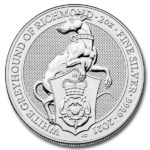 2021 British 2 oz Silver Queen's Beast Greyhound Coin