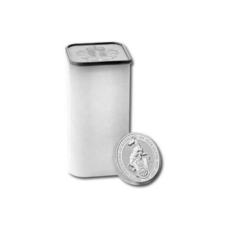 2021 British 2 oz Silver Queen's Beast Greyhound Coin Tube