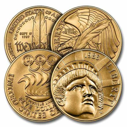 $5 US Mint Commemorative Gold Coin