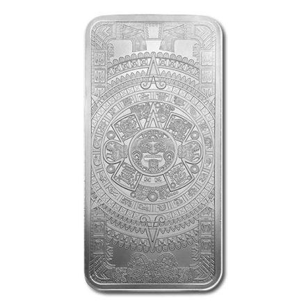Aztec Calendar 10 oz Silver Bar