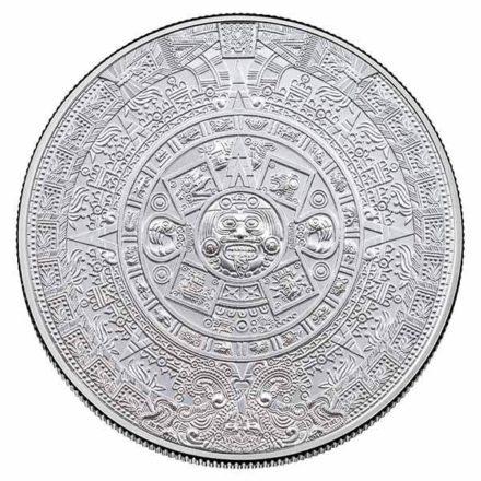 Aztec Calendar 2 oz Silver Round Obverse