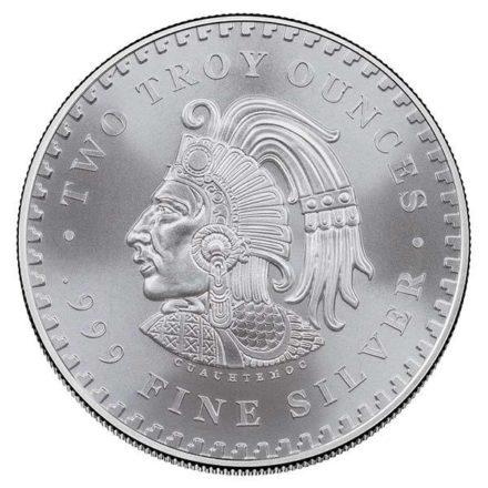 Aztec Calendar 2 oz Silver Round Reverse