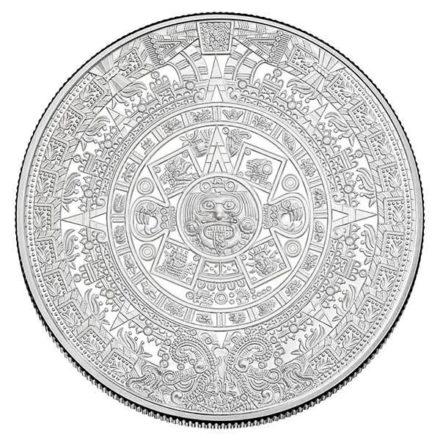 Aztec Calendar 5 oz Silver Round Obverse