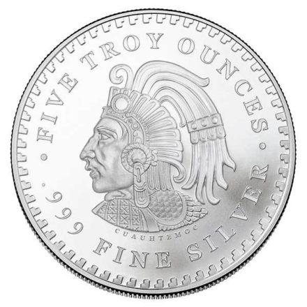 Aztec Calendar 5 oz Silver Round Reverse