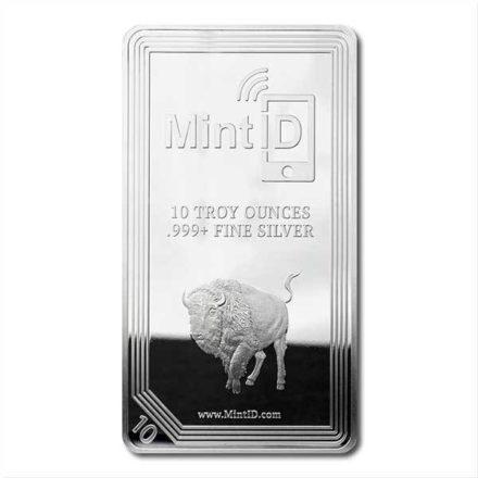 MintID Buffalo 10 oz Silver Bar