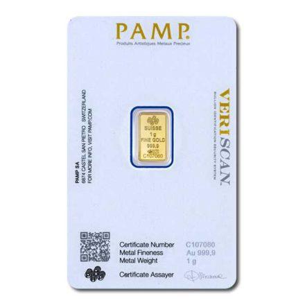 PAMP Fortuna 1 gram Gold Bar