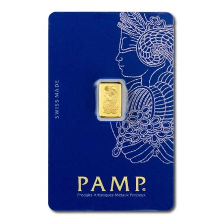 PAMP Fortuna 1 gram Gold Bar Front