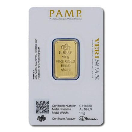 PAMP Fortuna 10 gram Gold Bar