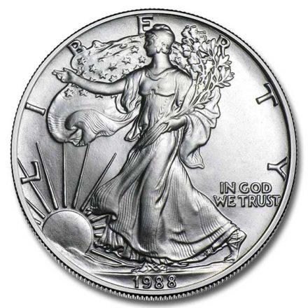1988 1 oz American Silver Eagle Coin Obverse
