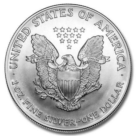 2005 American Silver Eagle Coin Reverse