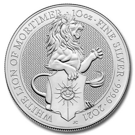 2020 British 10 oz Silver Queen's Beasts White Lion