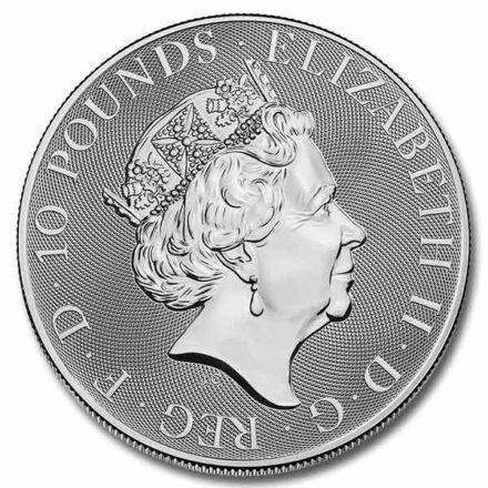 2021 British 10 oz Silver Queen's Beast Lion