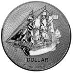 2020 Cook Islands 1 oz Silver HMS Bounty Coin Obverse