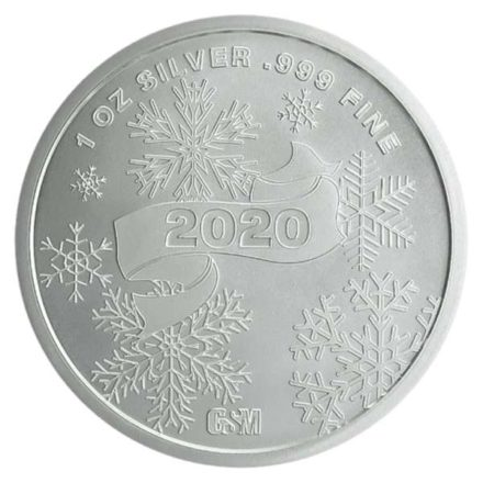 2020 Santa 1 oz Silver Round Reverse