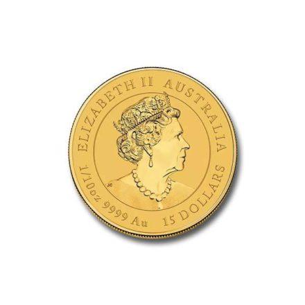 2021 Australian 1/10 oz Gold Lunar Ox Coin Effigy