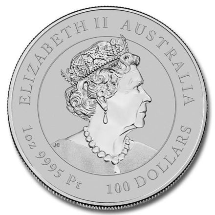 2021 Australian 1 oz Platinum Lunar Ox Coin Effigy