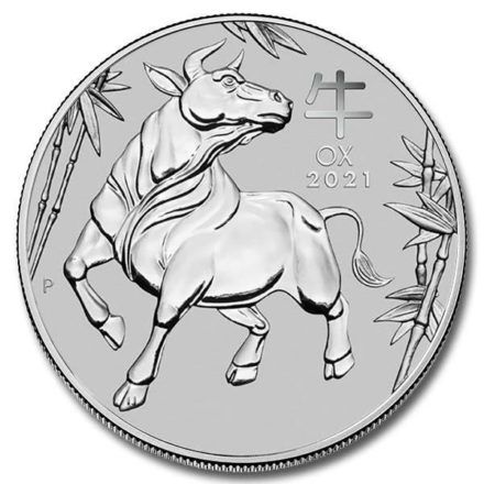 2021 Australian 1 oz Platinum Lunar Ox Coin